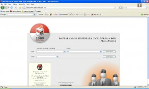 website dcs dpr dpd 2009